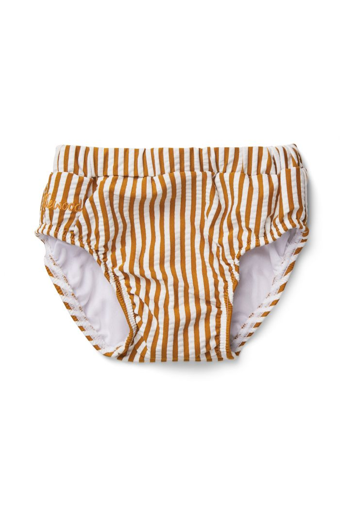 Liewood Frej baby swim pants seersucker Y/D stripe: Mustard/white_1