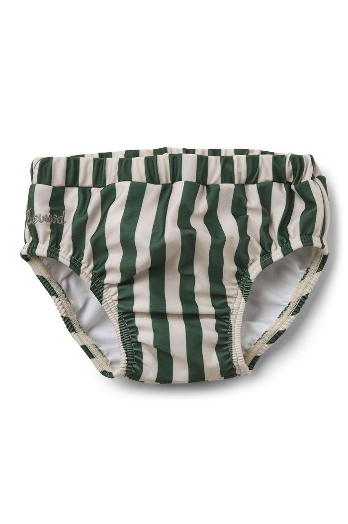 Liewood Frej baby swim pants Stripe: Garden green/sandy_1