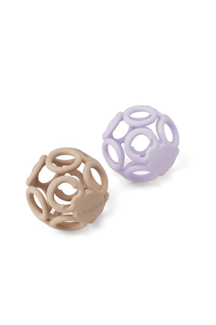 Liewood Jasmin teether ball - 2 pack Light lavender rose mix_1