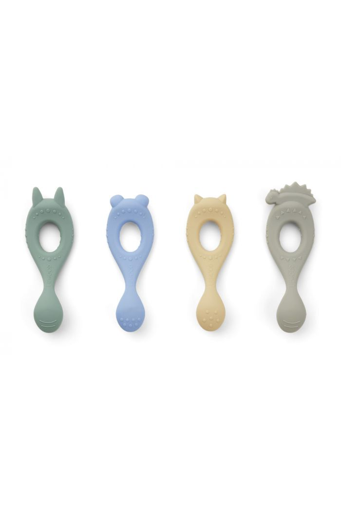 Liewood Liva silicone spoon 4-pack Peppermint multi mix_1