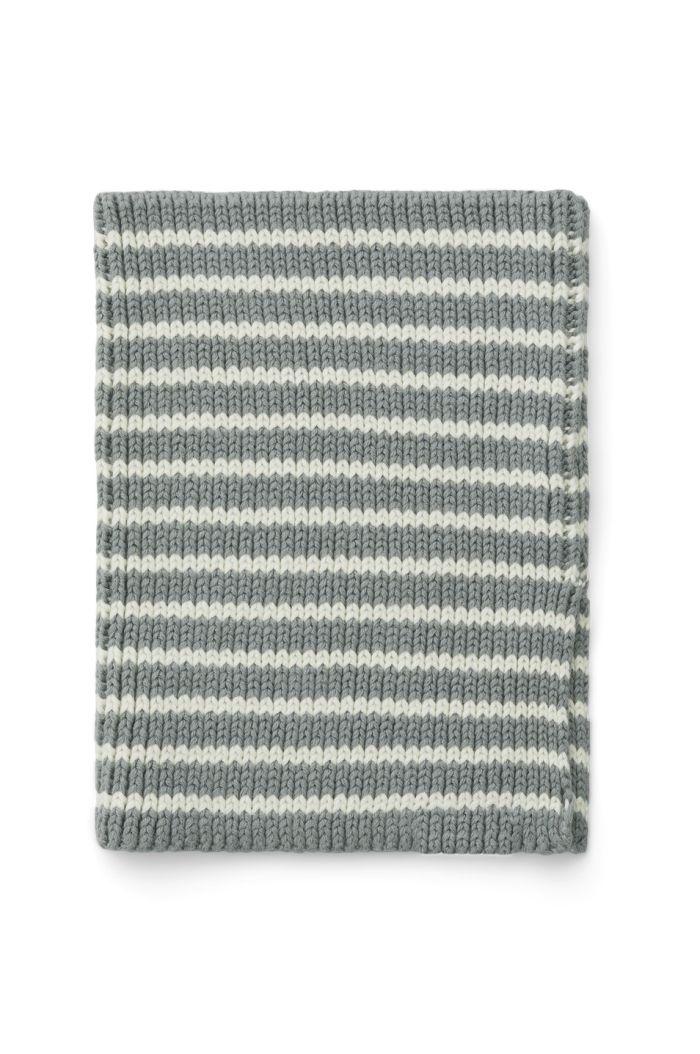 Liewood Mathias neck warmer Stripe: Blue fog/Creme de la creme