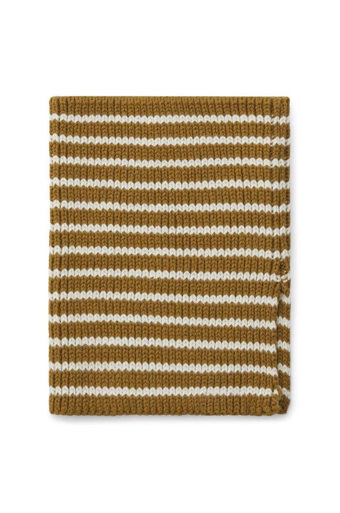 Liewood Mathias neck warmer Stripe: Golden caramel/creme de la creme