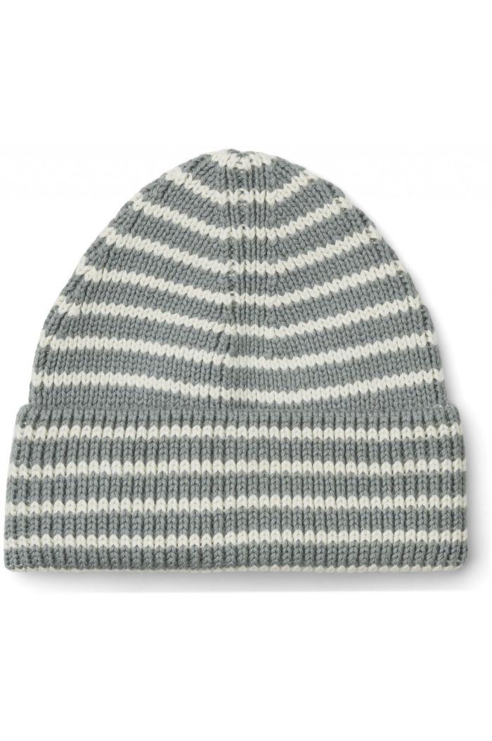 Liewood Ezra beanie Stripe: Blue fog/Creme de la creme