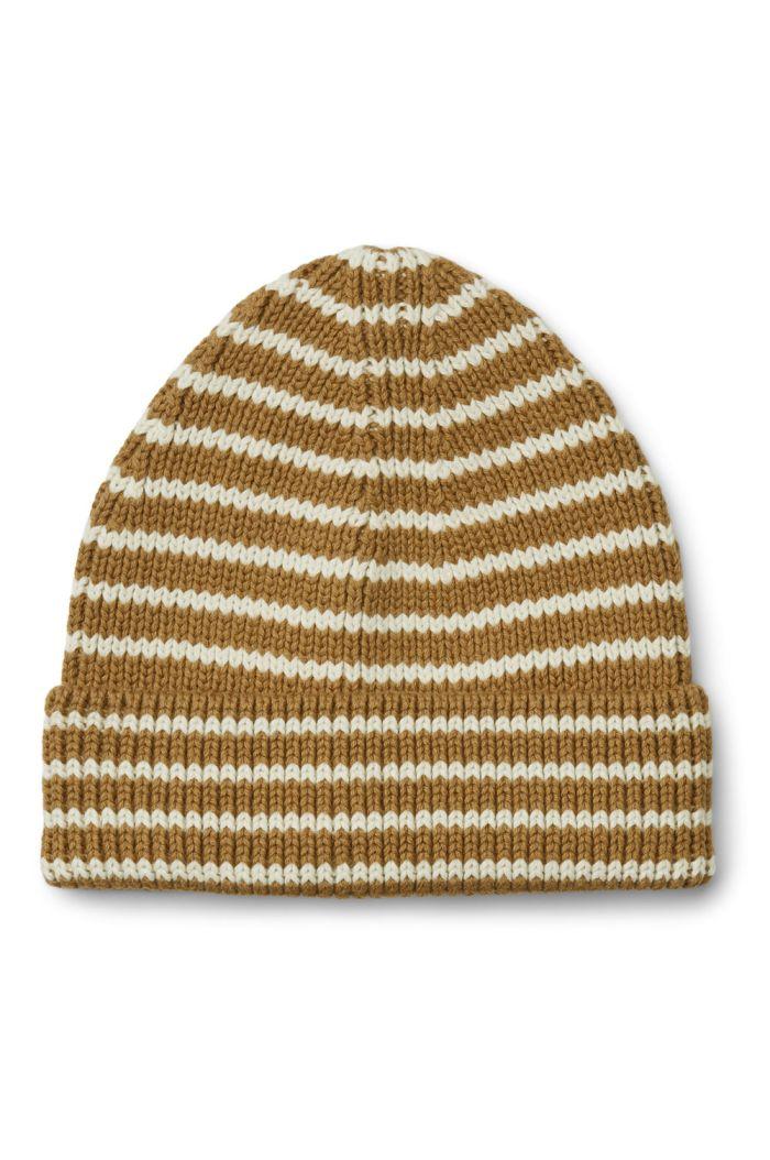 Liewood Ezra beanie Stripe: Golden caramel/creme de la creme
