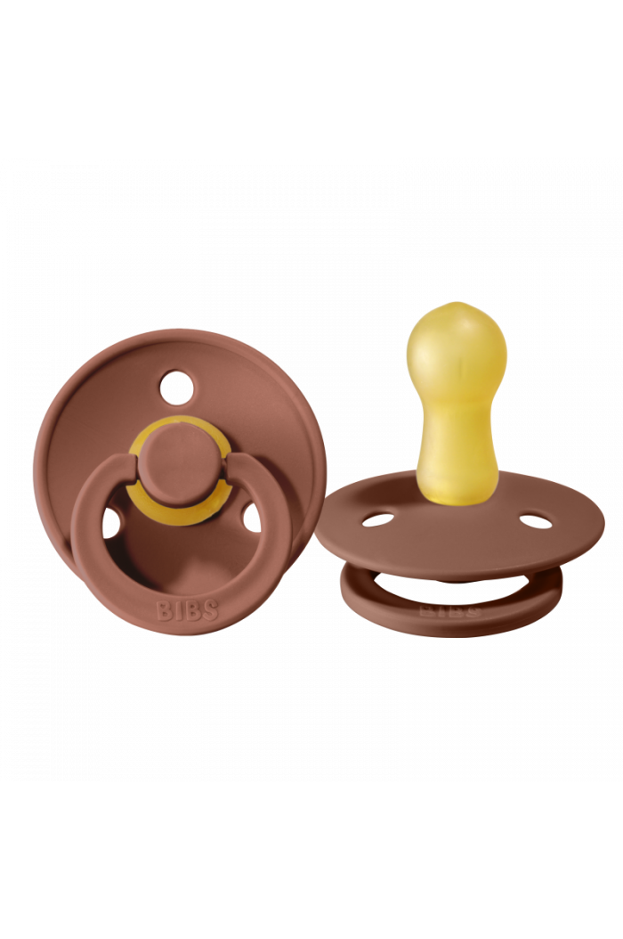Bibs Pacifier With Round Nipple Blister Woodchuck