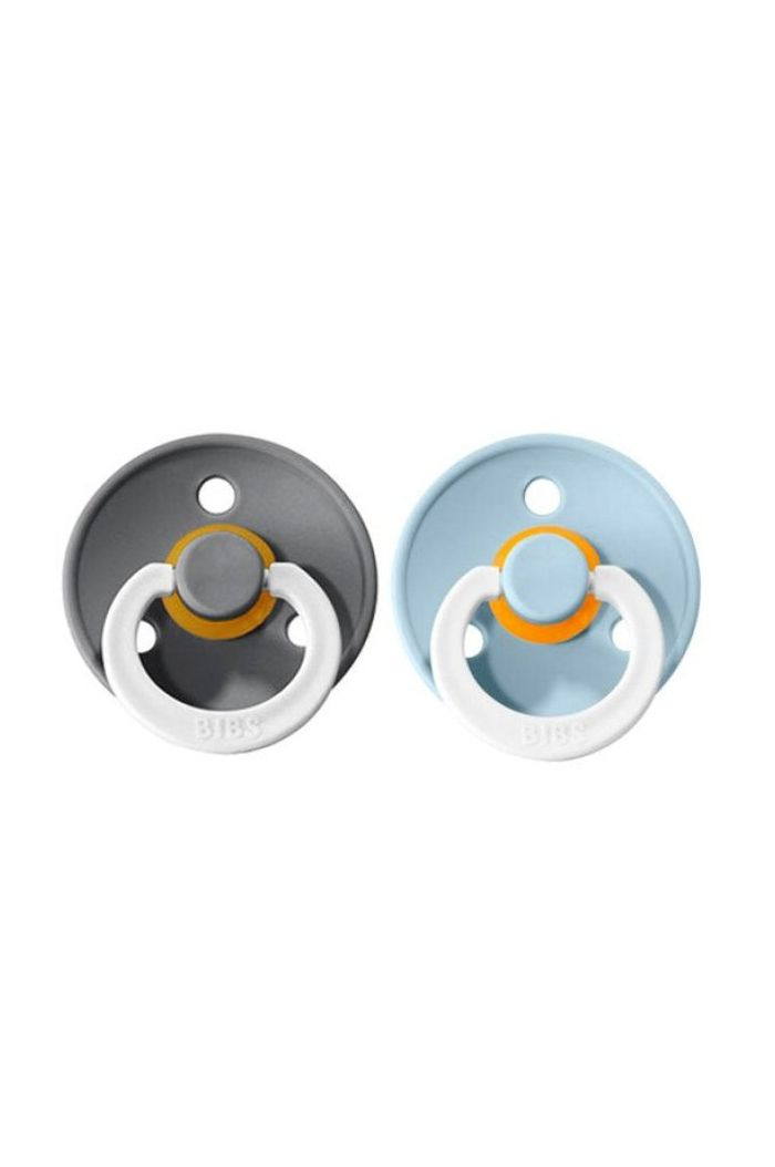 Bibs Pacifier with round nipple - 2-pack GID Iron / Baby Blue_1