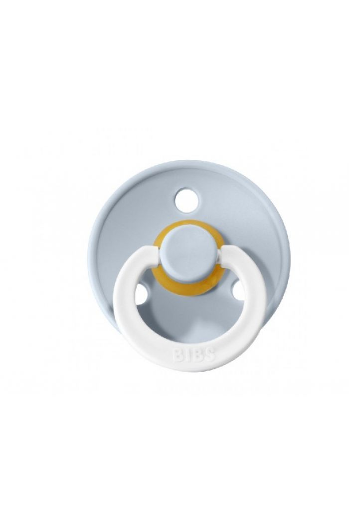 Bibs Pacifier With Round Nipple Blister GID B.Blue