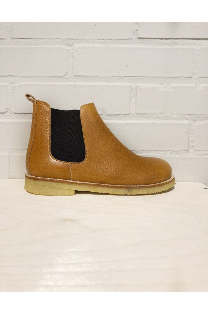 Angulus Chelsea Boot with inside zipper Cognac/Brown_1