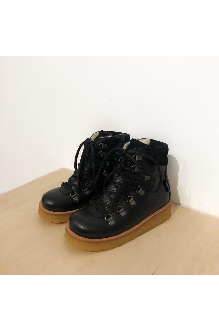 Angulus TEX-boot with laces and zipper Black_1