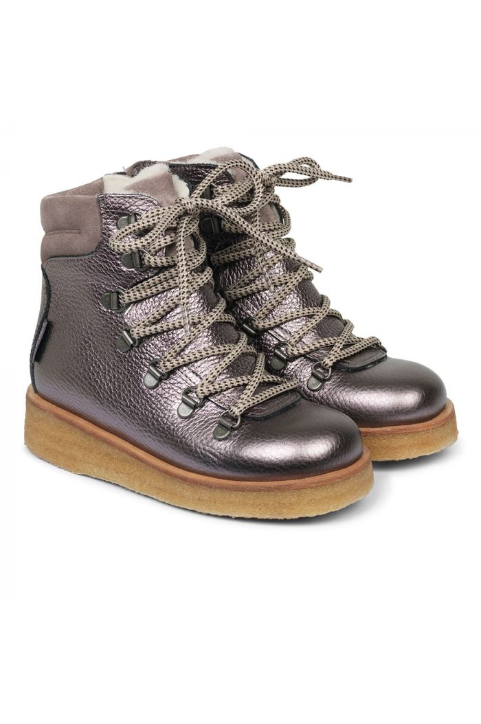 Angulus TEX-boot with laces and zipper Mauve/Lavender_1