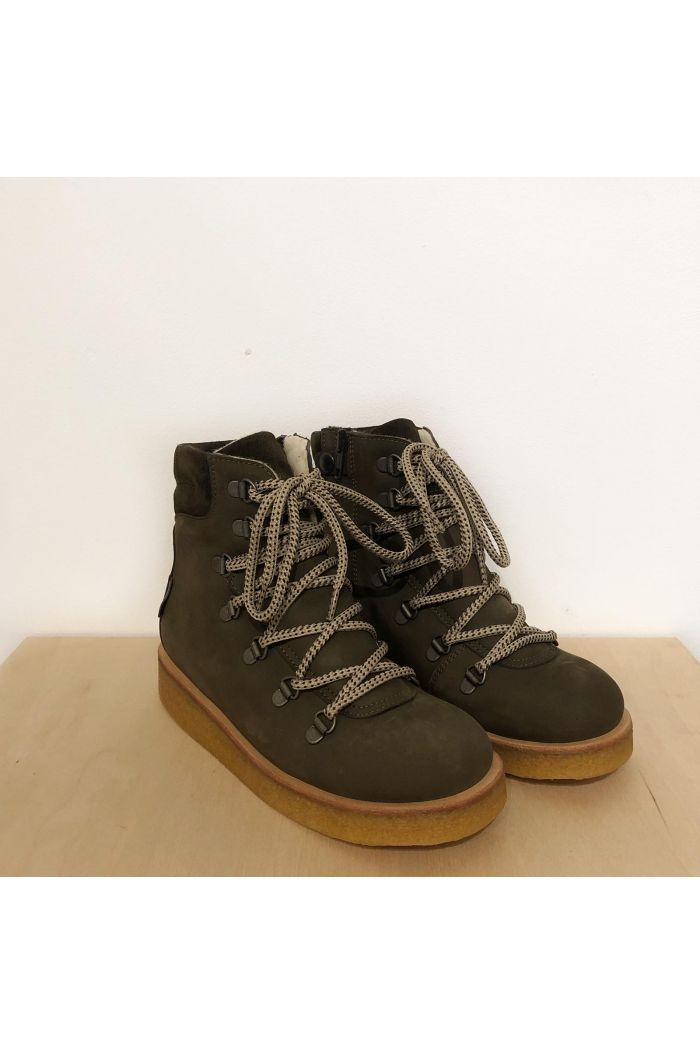 Angulus TEX-boot with laces and zipper Brown_1