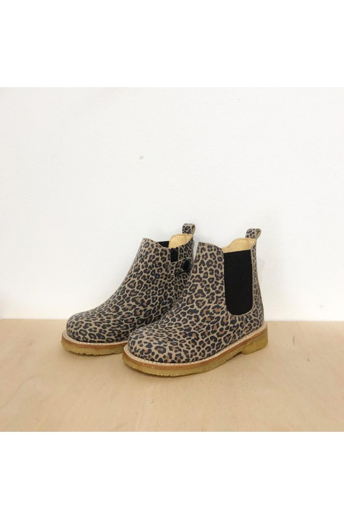 Angulus Chelsea Boot with inside zipper Leopard/Brown_1