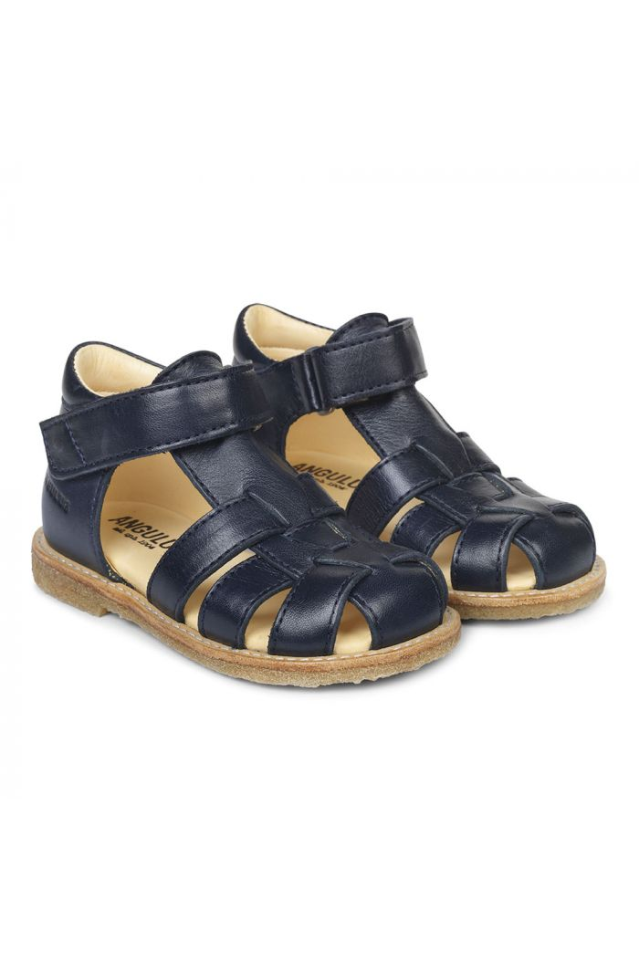 Angulus Starter sandal with velcro closure Navy_1