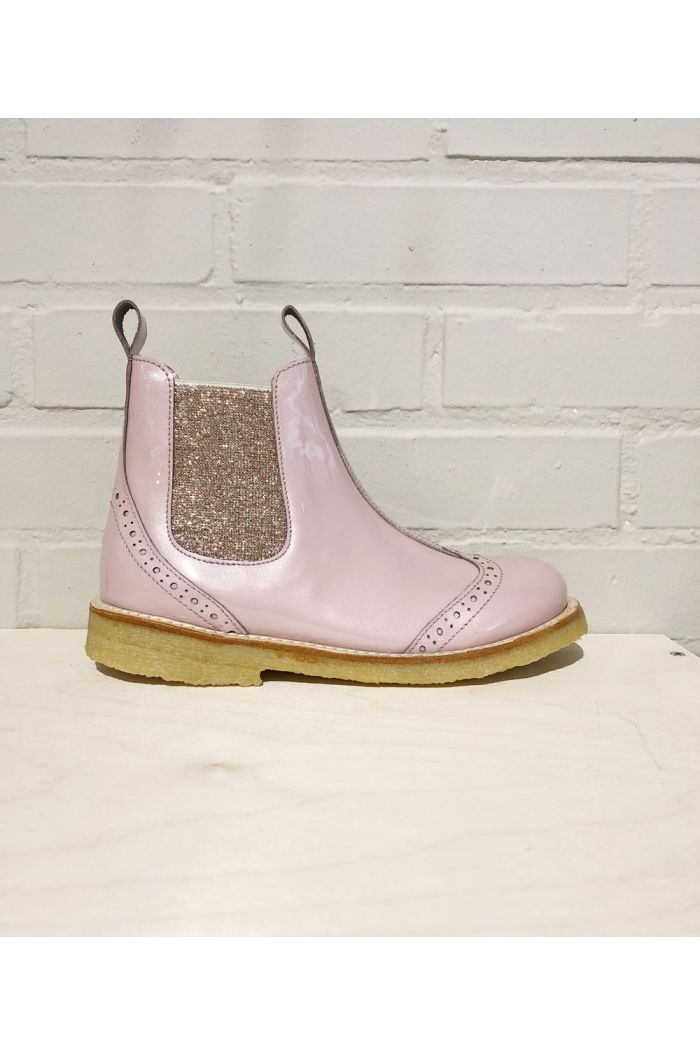 Angulus Classic Chelsea boot with elastic Rose/Rose Glitter_1