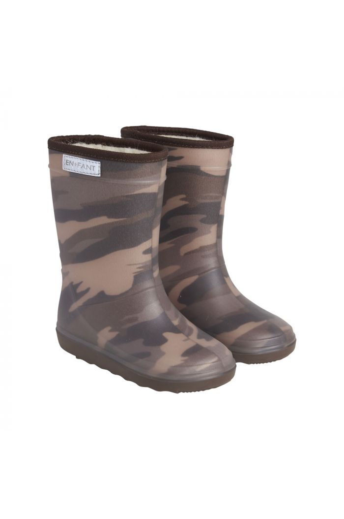 En Fant Thermo Boots Print 9526 Dark Olive_1
