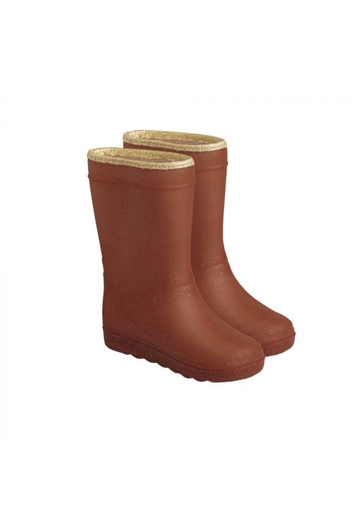 En Fant Thermo Boots Glitter 2254 Leather Brown_1