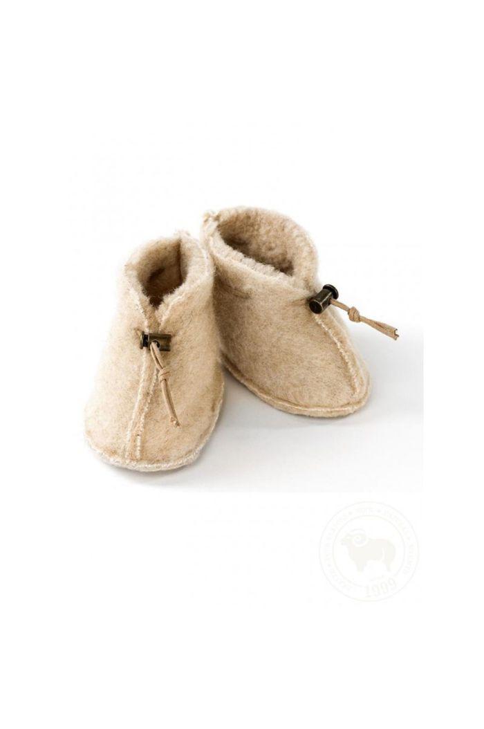 Alwero Babyslofjes Emo Wool Beige