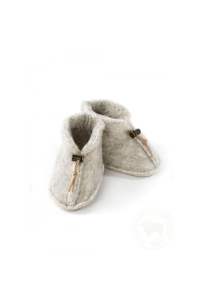Alwero Babyslofjes Emo Wool Light Grey
