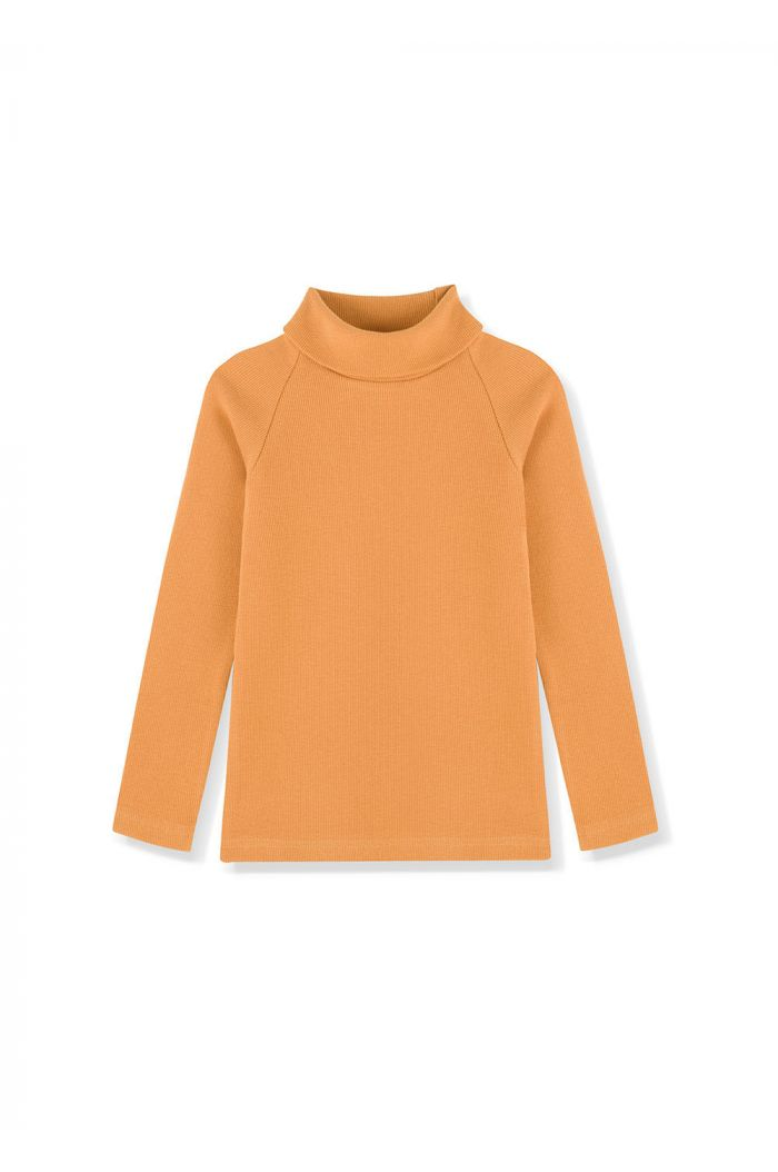 Kids on the Moon Turtleneck Top Honey_1