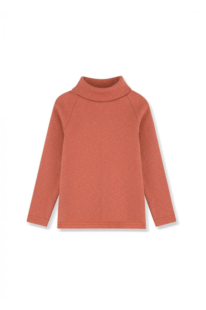 Kids on the Moon Turtleneck Top Copper_1