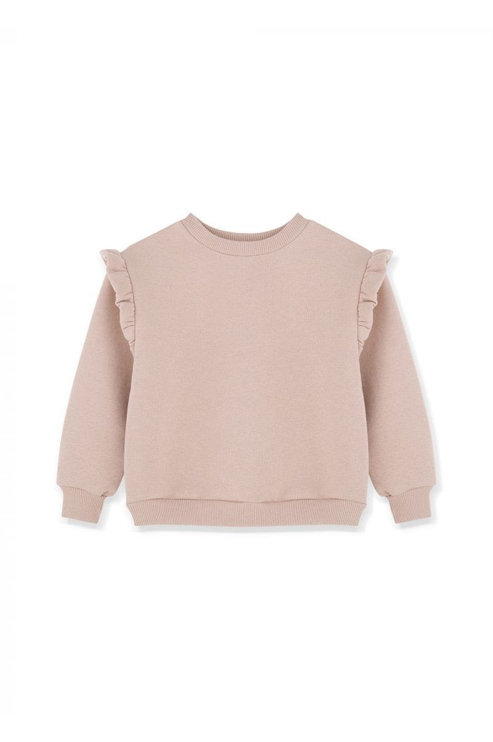 Kids on the Moon Frill Sweatshirt Heather_1