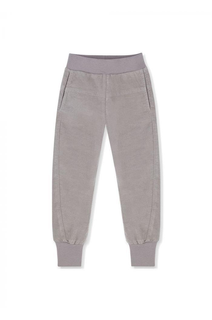 Kids on the Moon Cord Jogger Grey_1