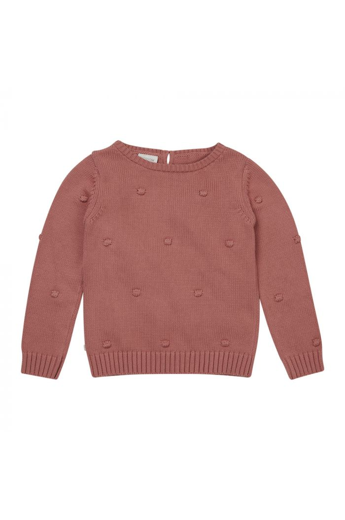 Blossom Kids Knitted Jumper Dots Rose_1
