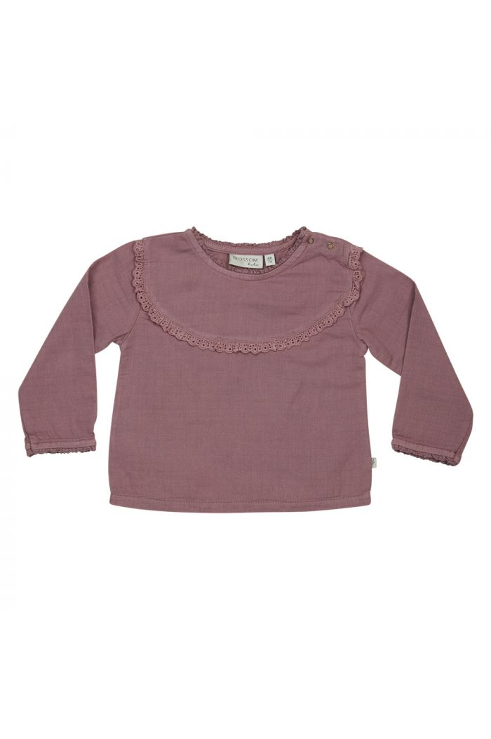 Blossom Kids Baby Tunic With Lace Dusty Violet