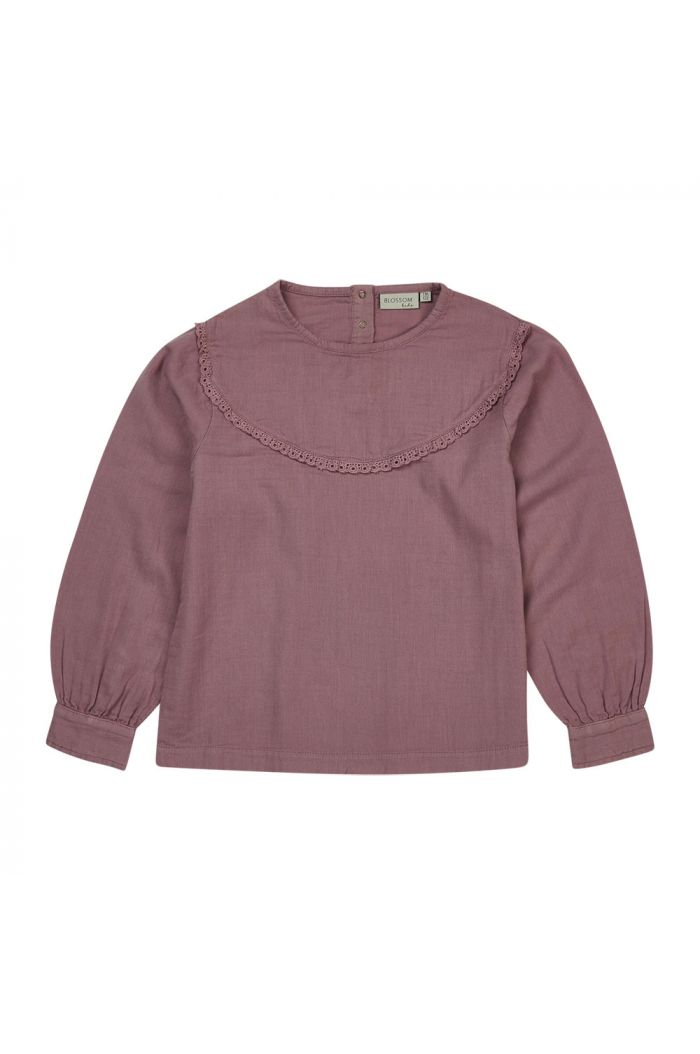 Blossom Kids Blouse with lace Dusty Violet_1