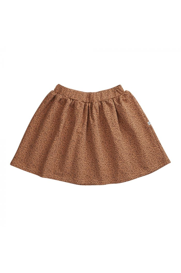 Blossom Kids Skirt Leave Drops, Caramel Fudge_1