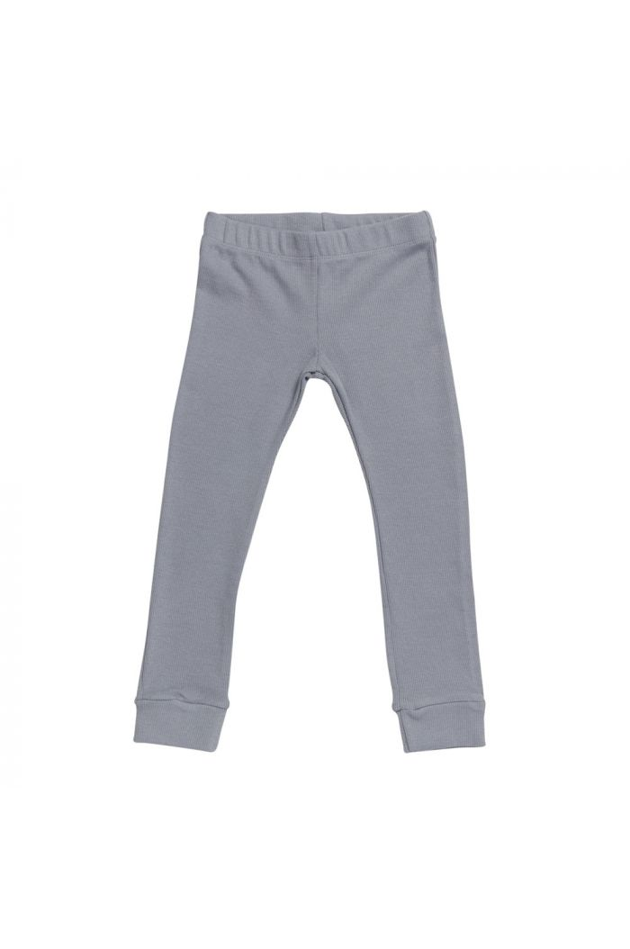 Blossom Kids Legging - soft rib Blue grey