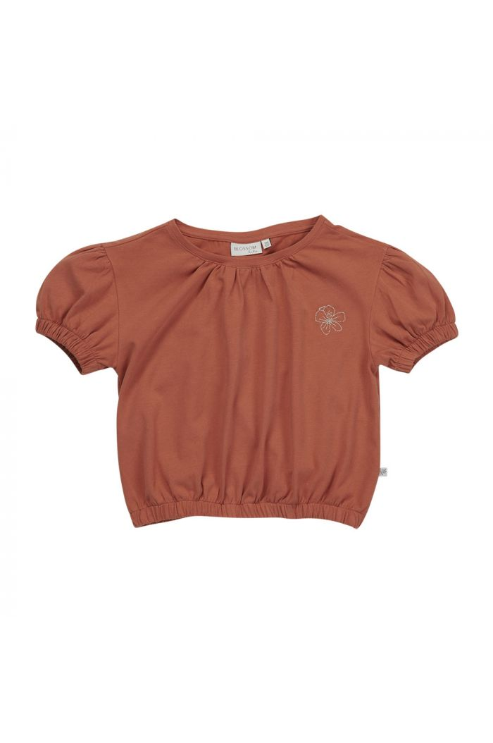 Blossom Kids Cropped top with embroidery Dusty Coral_1