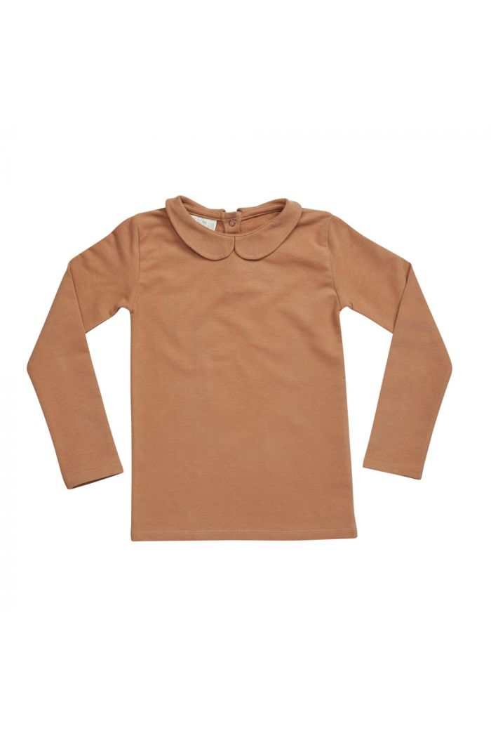 Blossom Kids Peterpan longsleeve shirt Caramel Fudge_1