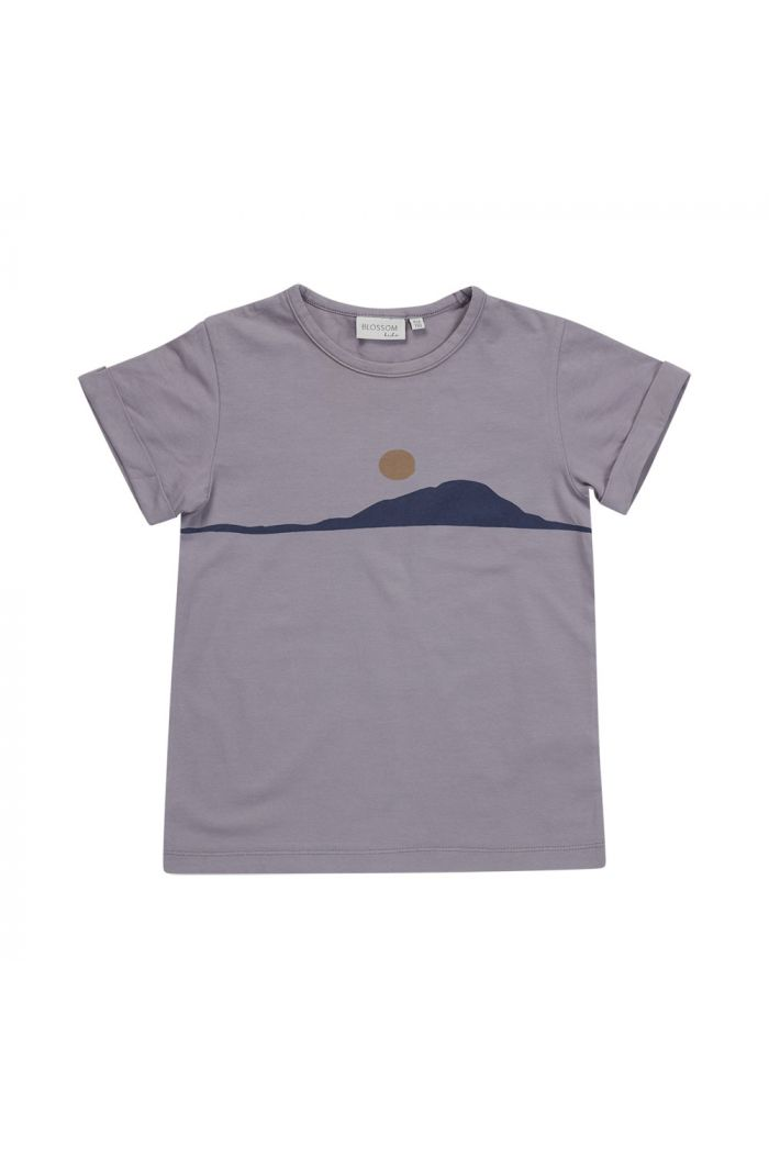 Blossom Kids T-shirt Sunset lilac grey_1