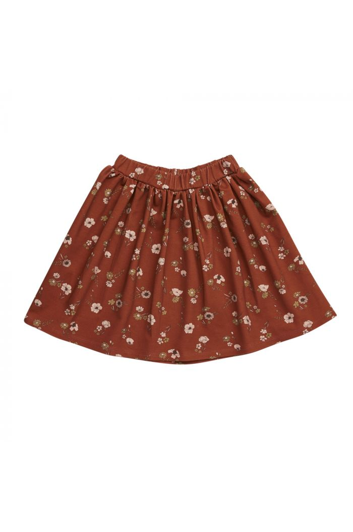 Blossom Kids Skirt Festive Floral, Dusty Terra_1