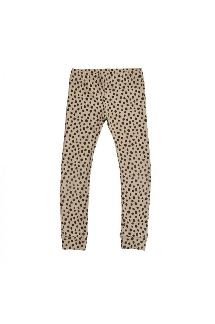 Blossom Kids Legging rib Animal Dot, Warm Sand_1