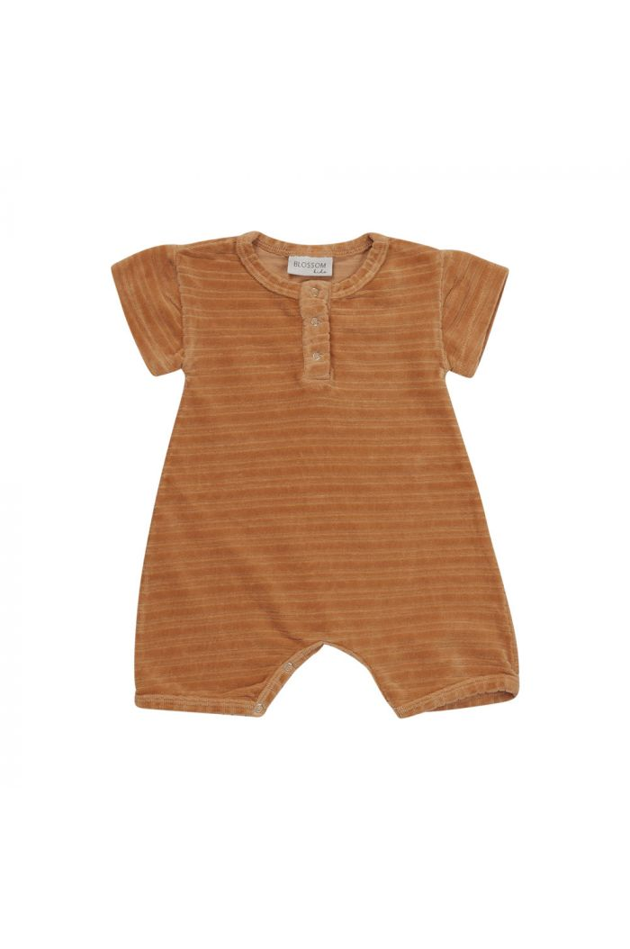 Blossom Kids Velvet Playsuit Honey_1