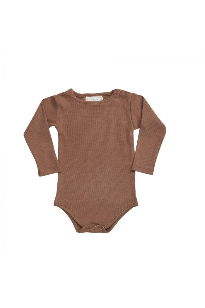 Blossom Kids Ribbed body Smoked Hazelnut_1