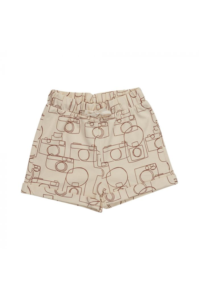 Blossom Kids Shorts Camera Chaos Soft Sand_1