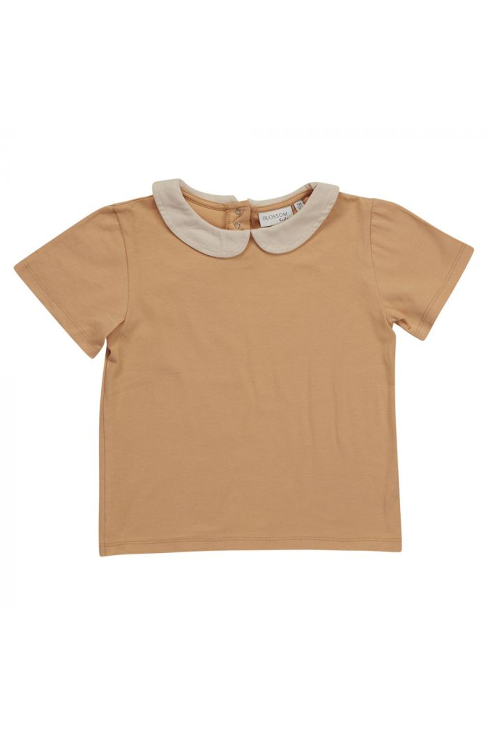 Blossom Kids Peterpan shirt short sleeve Baked Clay_1