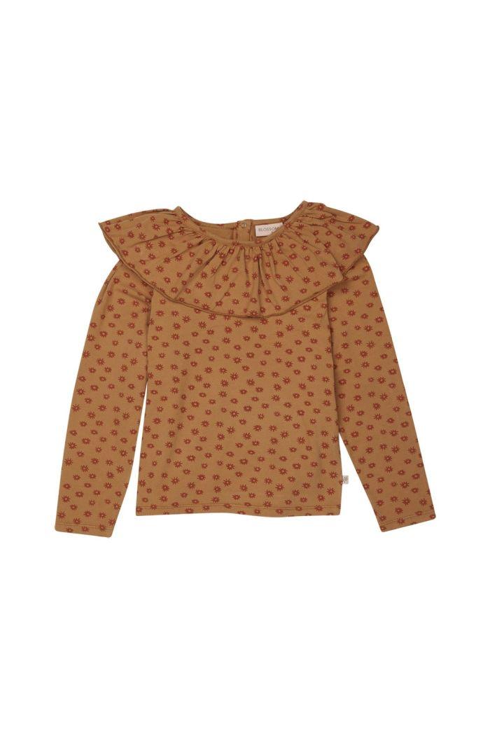 Blossom Kids Long sleeve shirt with volan collar Winter Flower_1