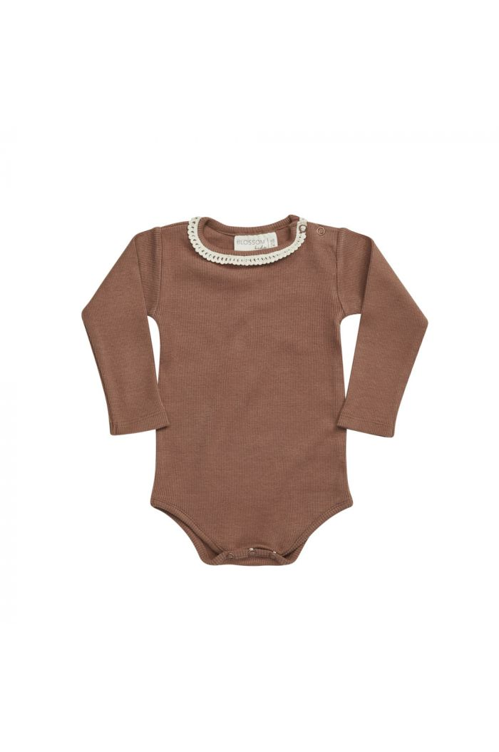 Blossom Kids Ribbed body with lace Smoked Hazelnut_1