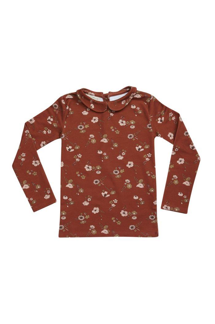 Blossom Kids Peterpan longsleeve shirt Festive Floral, Dusty Terra_1