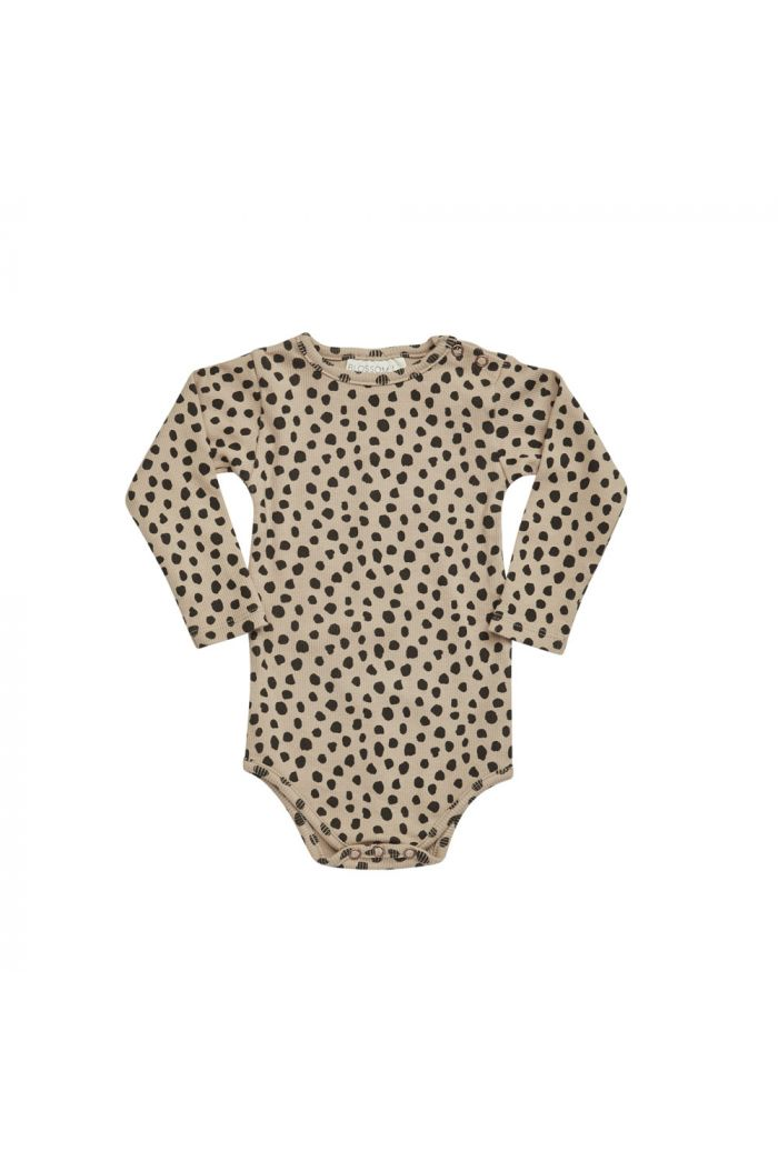 Blossom Kids Ribbed body Animal Dot, Warm Sand_1
