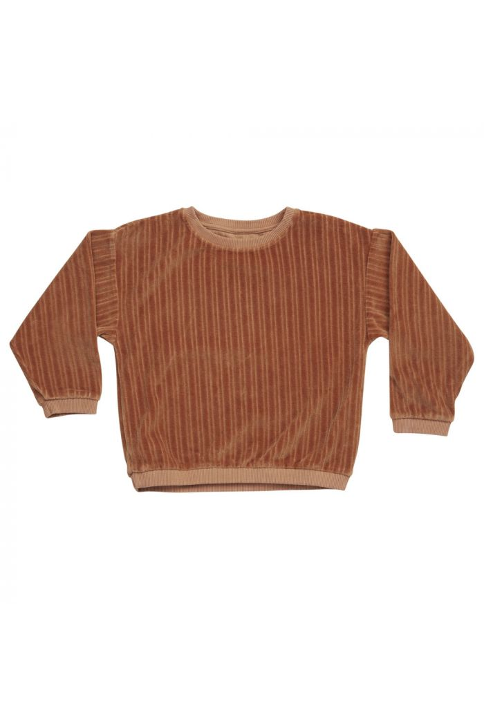 Blossom Kids Velvet Jumper Caramel Fudge_1