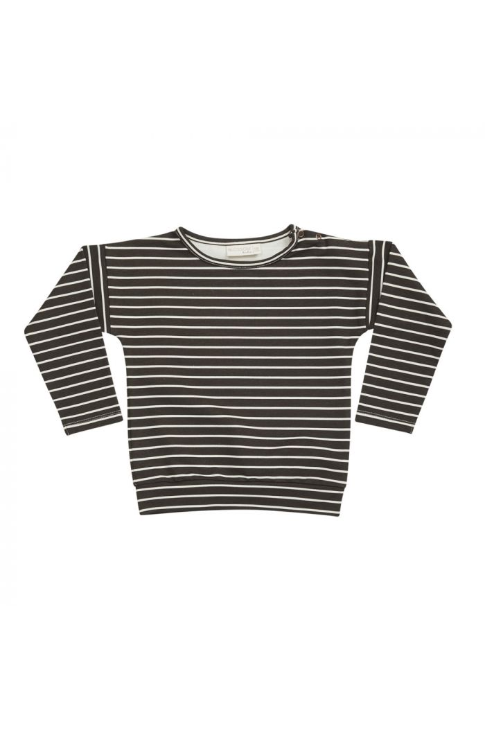 Blossom Kids Sweater Petit Stripes, Espresso Black_1
