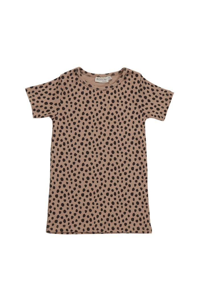 Blossom Kids Short sleeve shirt Animal Dot Warm Sand_1