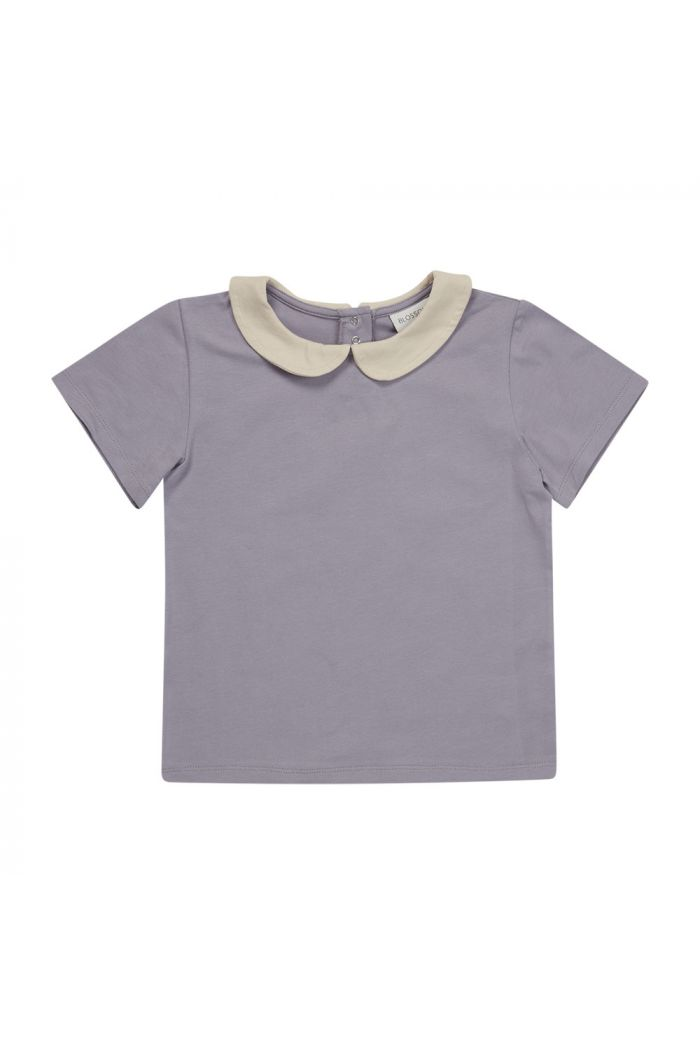 Blossom Kids Peterpan shirt short sleeve Lavender Gray_1