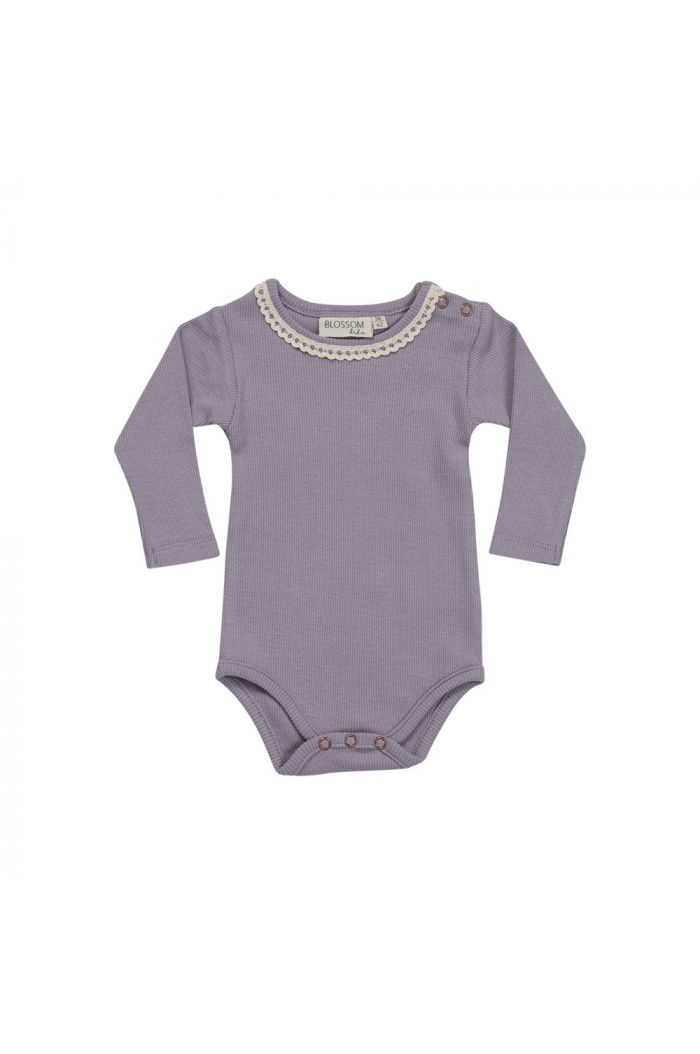 Blossom Kids Body long sleeve with lace Lavender Gray_1