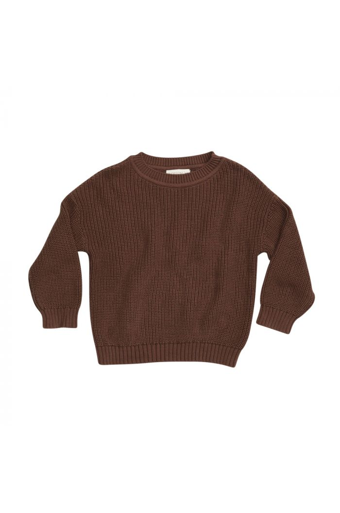 Blossom Kids Knitted jumper Dark Chocolate_1